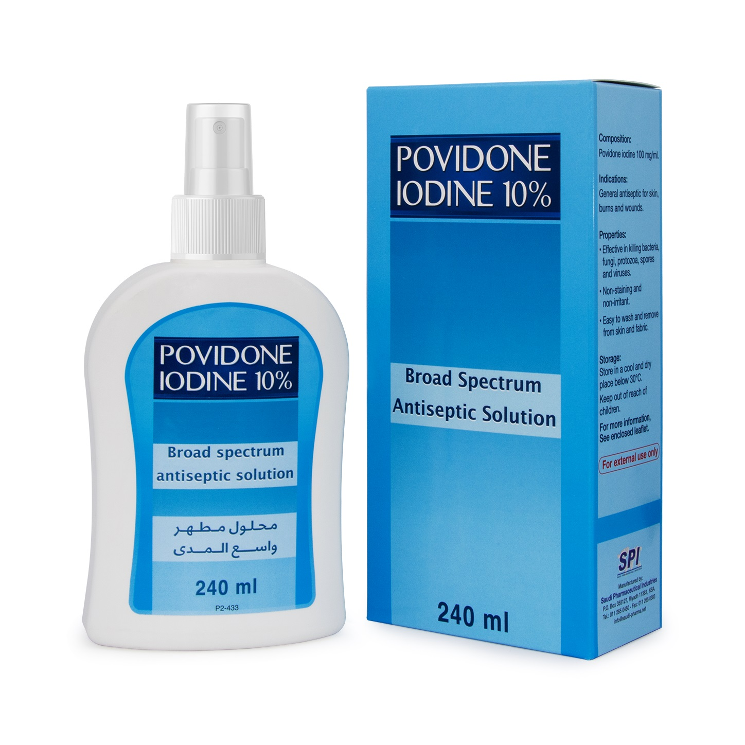 POVIDONE IODINE 10% 240 ML Spray