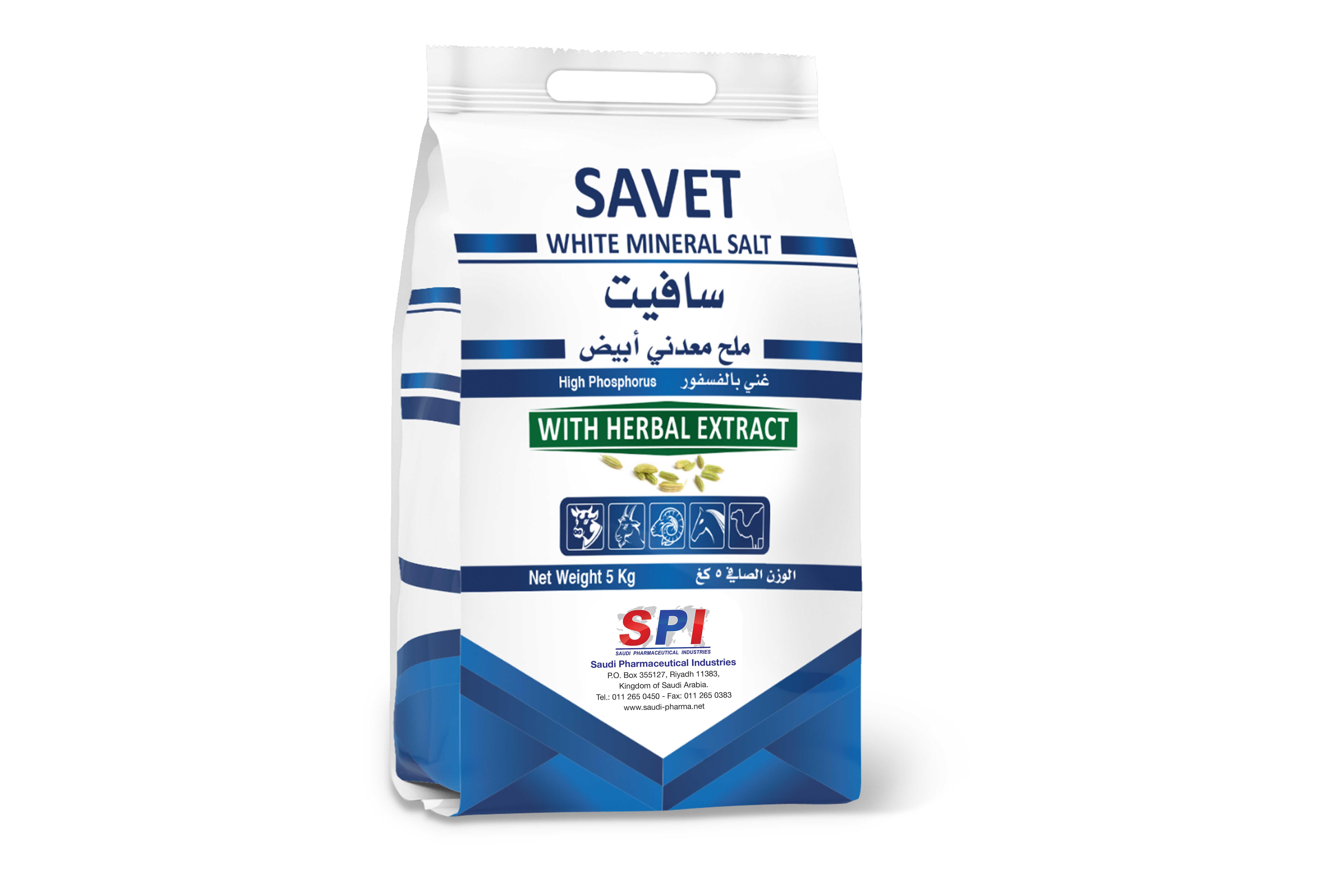 SAVET - White Mineral Salt 5 kg